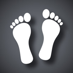 Vector footprints icon