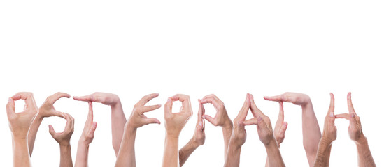 Das Wort Osteopath vor weiß freigestellt