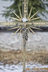 mountain cemetery iron cross