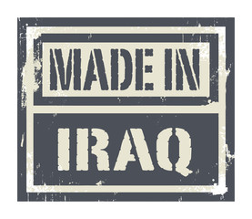 Abstract stamp or label with text Made in Iraq