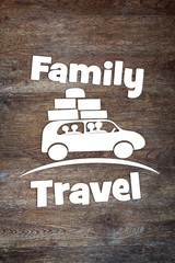 Concept of family journey by the car