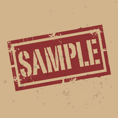 Abstract stamp or label with text Sample