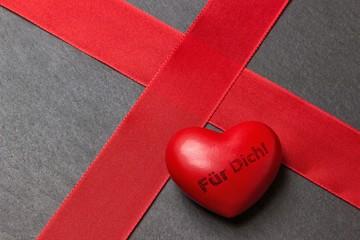 """Geschenkverpackung mit Herz """"Für dich!"""""""