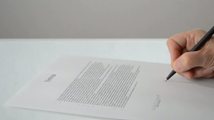 Vertrag zweite Unterschrift