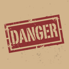 Abstract stamp or label with text Danger, vector