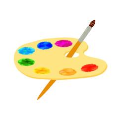 Artist's palette on a white background.