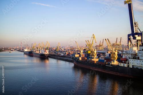 Marine port Container Terminal - 80318117