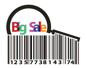 barcode with magnifying