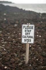 Warning Sign Shoreline