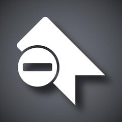 Vector bookmark icon with minus glyph