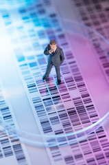 Man looking at DNA gel
