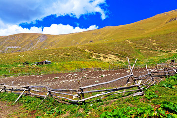 little pinfold in the Caucasus mountains