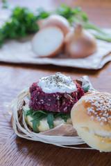 Veggie beetroot burger
