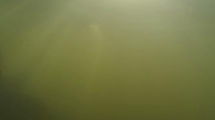 Water of  lake and stones, underwater shooting