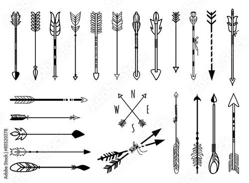 Hand drawn arrows set - 80320378