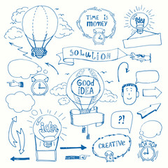 Creative doodles thinking concept
