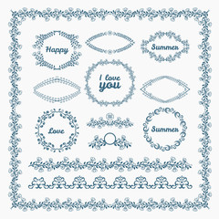 Ornate frames and borders page elements