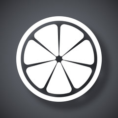 Vector citrus icon