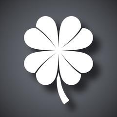 Four-leaf clover icon, vector