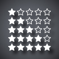 Vector stars rating icon