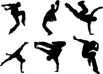 The set of Dance silhouette