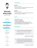Clean and minimalistic personal vector resume / cv template - 80322760
