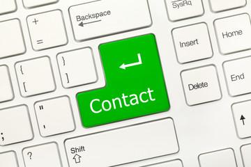 White conceptual keyboard - Contact (green key)