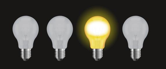 Ampoule allumer dans le noir