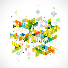 Abstract colorful and creative geometric template for corporate