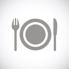 Plate black icon