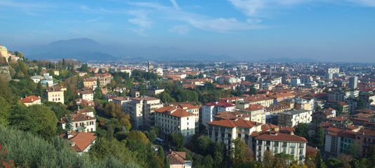 View over bergamo city