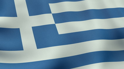 4K UltraHD Loopable waving Greek flag animation