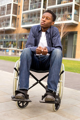 a wheelchair user feeling nervous or worried