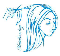 hairdresser salon logo
