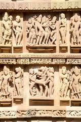 Detail of artwork at the Khajuraho temples
