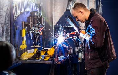Mechanical carefully welding the tube
