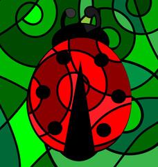 abstract ladybug