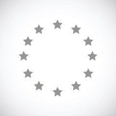 European Union black icon