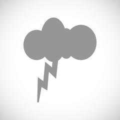 Storm black icon