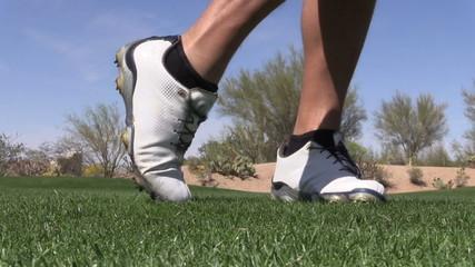 Golfer Hitting an Iron