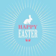 Happy Easter Blue Poster
