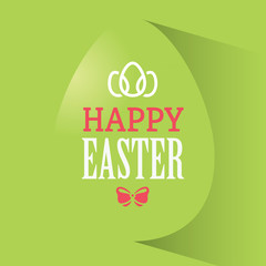 Happy Easter Green Banner