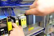 Leinwandbild Motiv Montage von Schaltschränken in einer Fabrik