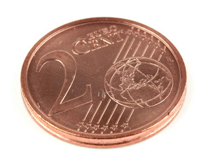 A collage of 2 euro cent coin