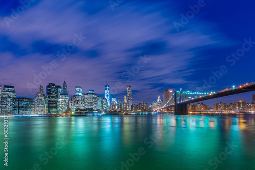 Foto op Aluminium New York Night panorama of Manhattan in New York, USA
