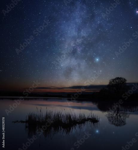 Stars over the lake