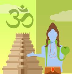 Hindu flat icon2