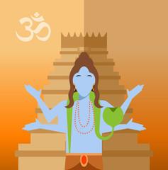 Hindu flat icon