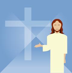 Flat icon Jesus2