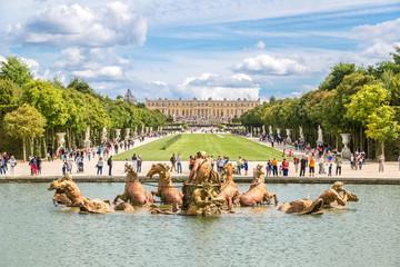 Fountain of Apollo in garden of Versailles Palace
